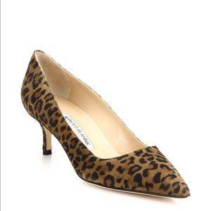 Manolo Blahnik Women's BB 50 Suede Leopard Pumps